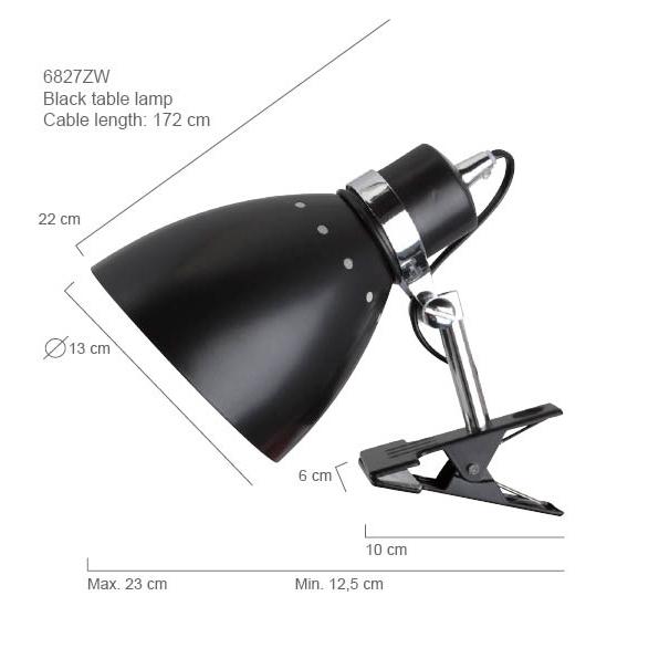 lampe vintage noire