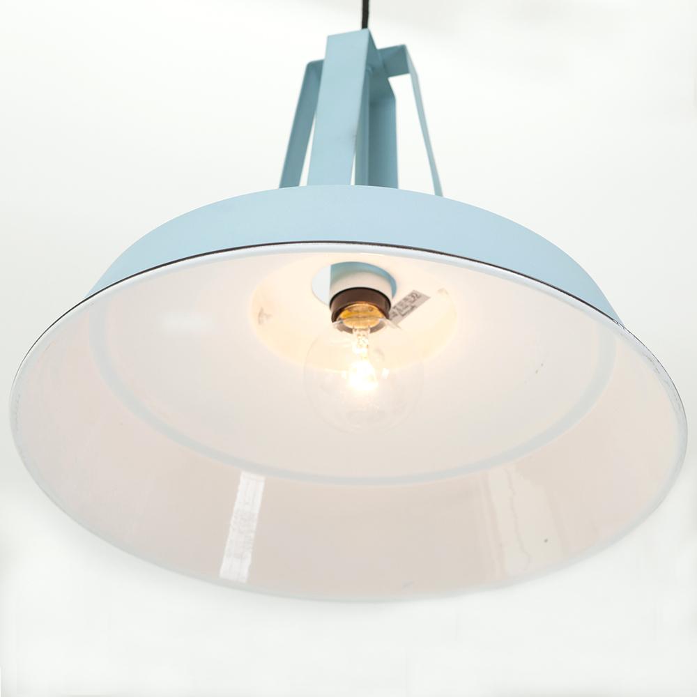 lampe industrielle bleue