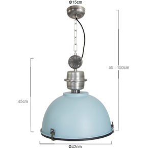 suspension bleu industrielle