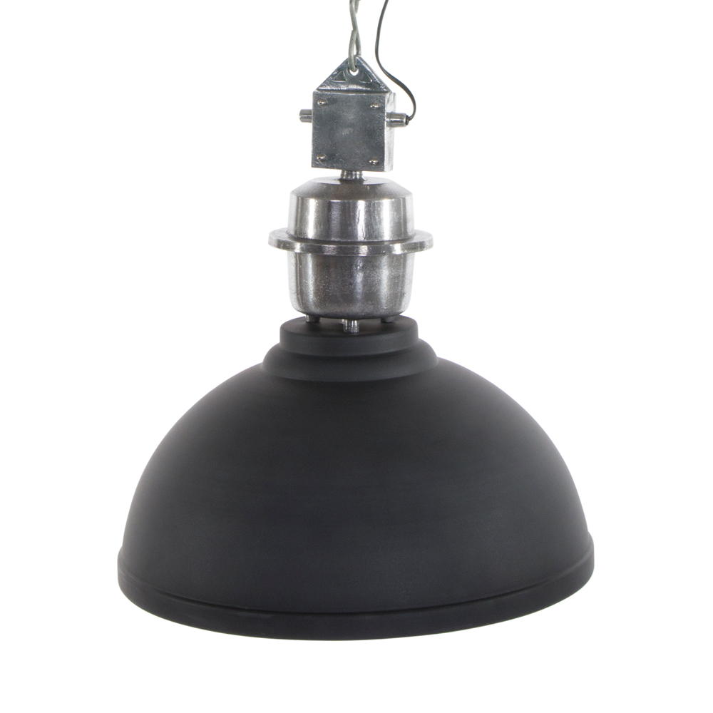 Suspension industrielle rome xxl gris for Suspension grise