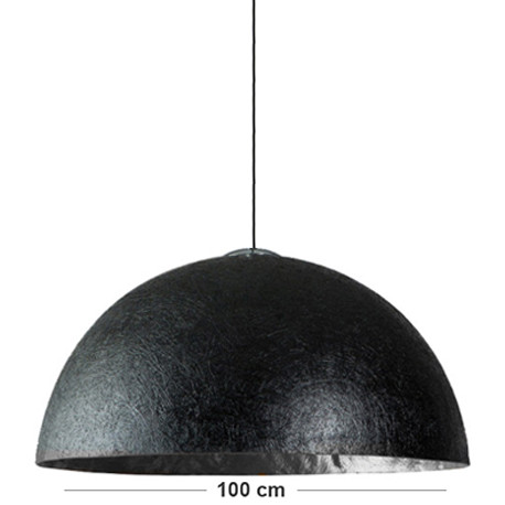suspension robuste globe argent 100 cm. Black Bedroom Furniture Sets. Home Design Ideas