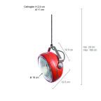 suspension industrielle rouge