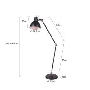 lampadaire noir