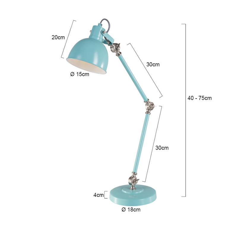 lampe de table vert