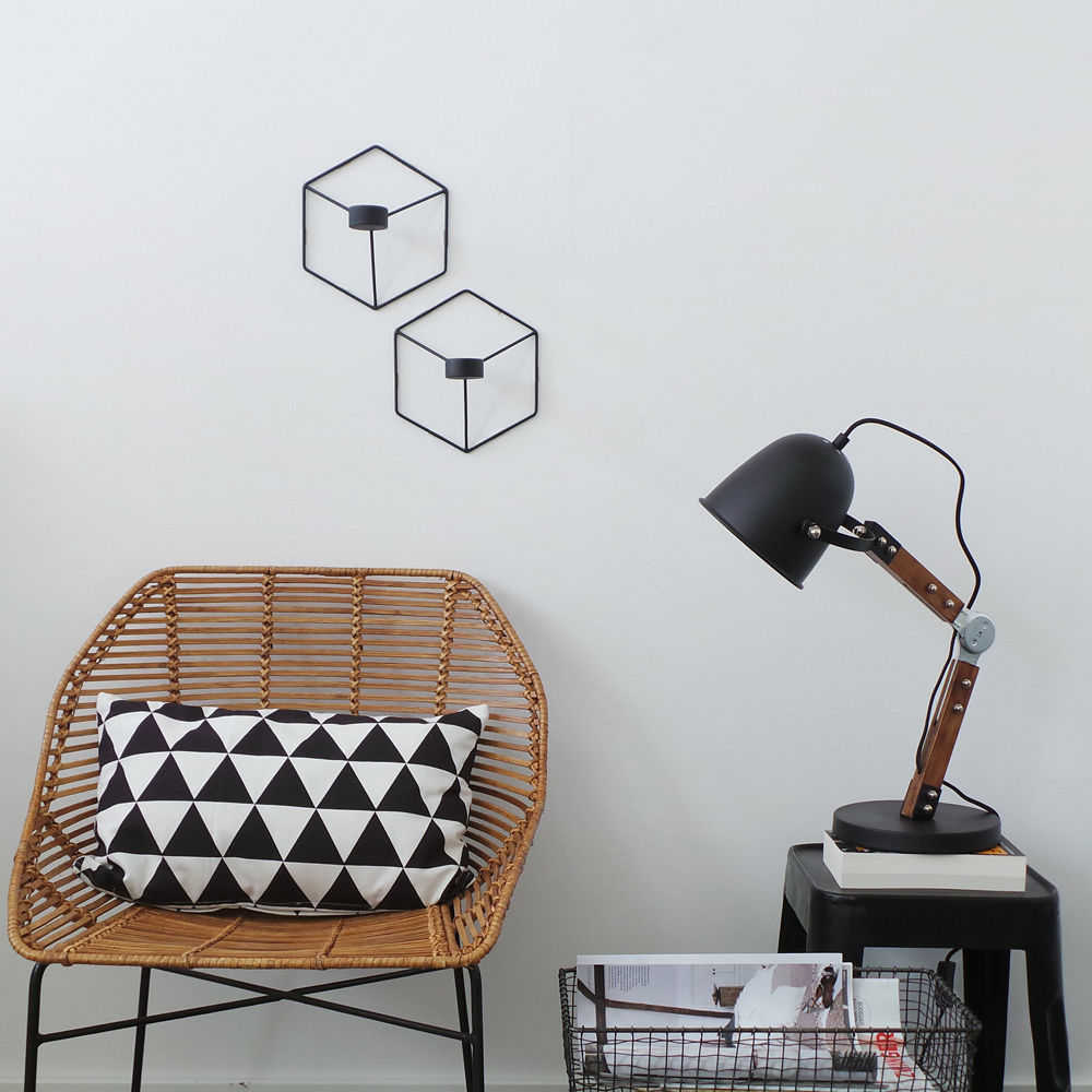 lampe de bureau industrielle noire derby. Black Bedroom Furniture Sets. Home Design Ideas