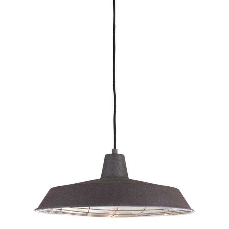 suspension industrielle brun
