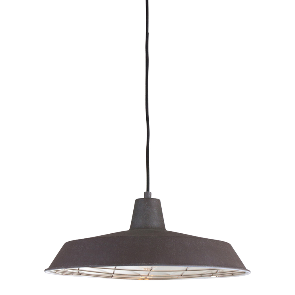 Lampe Suspendue Industrielle Boston O 40 Cm Brun