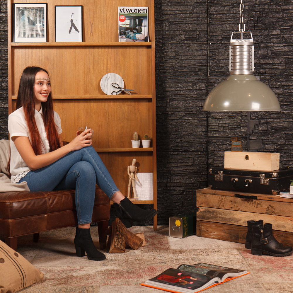 lampe pendante oncle phillipe anne 50 cm vert. Black Bedroom Furniture Sets. Home Design Ideas