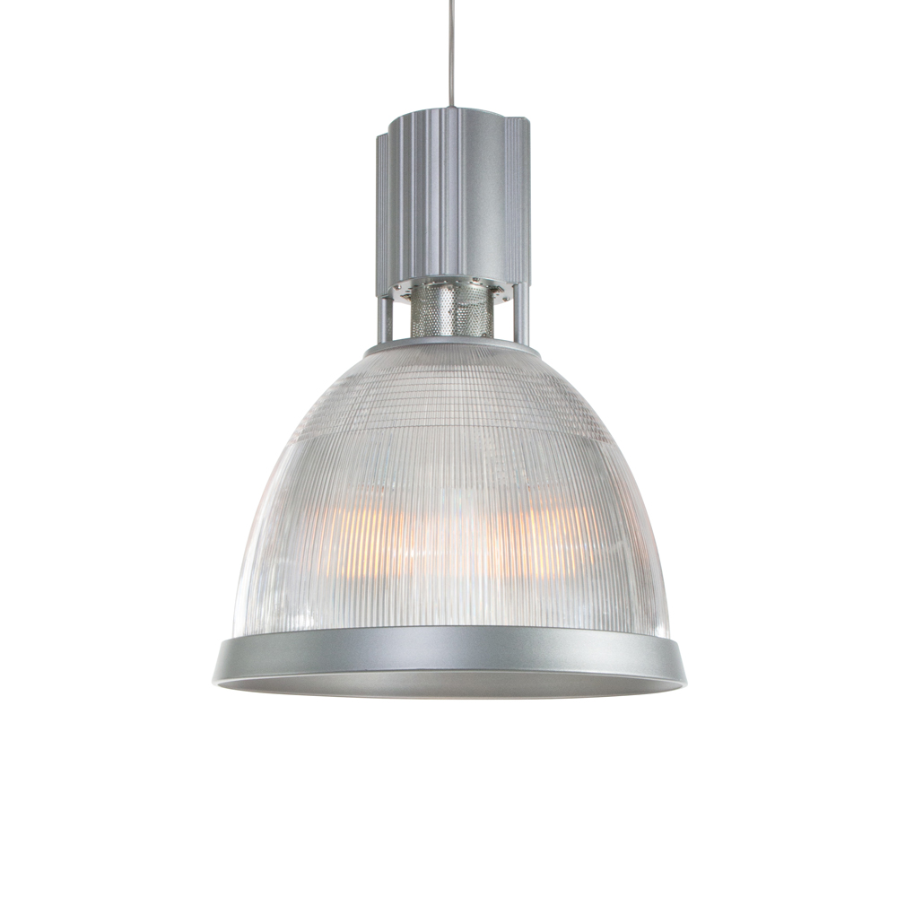 Suspension industrielle flow gris for Lampe de suspension