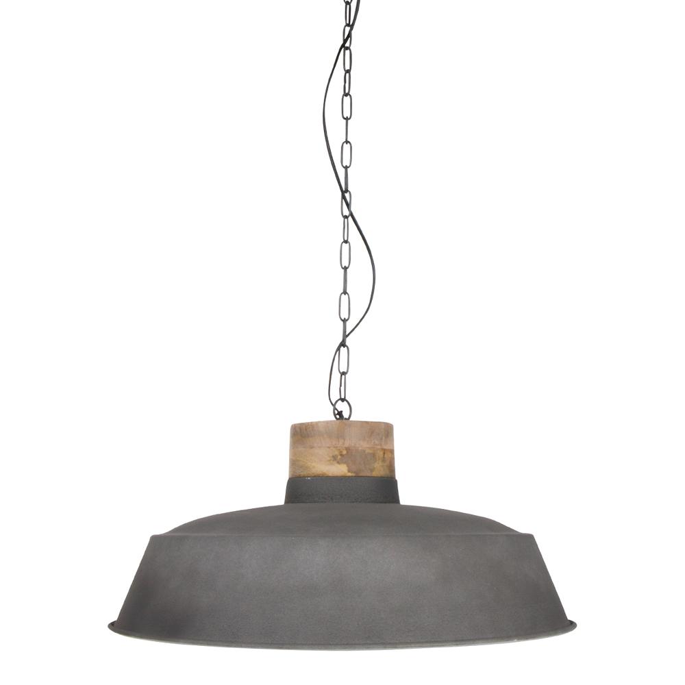 suspension industrielle jetvik 61 cm grise. Black Bedroom Furniture Sets. Home Design Ideas