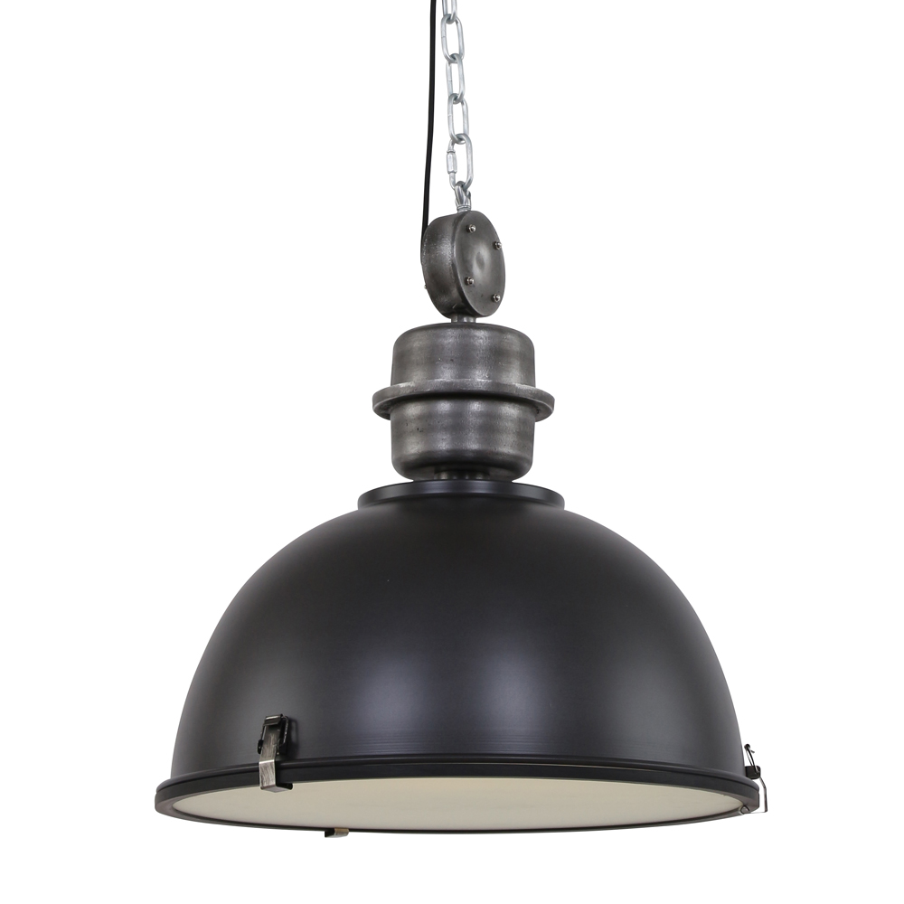 Suspension industrielle c ur xl noire 52 cm lampe industrielle - Lampe suspension industrielle ...