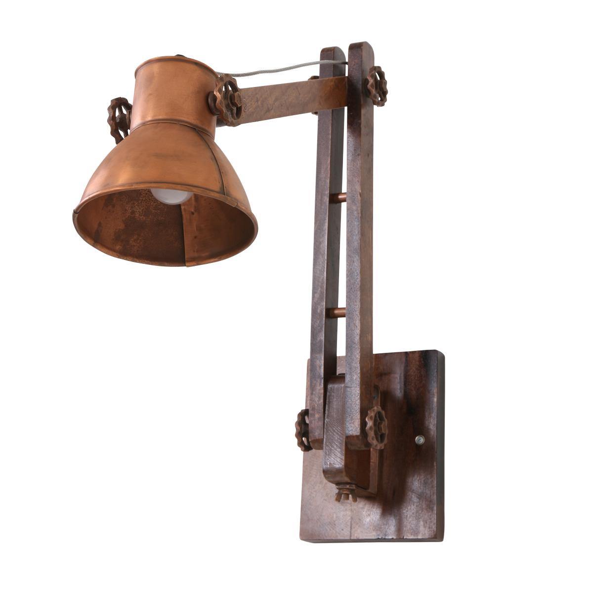 applique murale industrielle acier alium 18 cm lampe industrielle. Black Bedroom Furniture Sets. Home Design Ideas