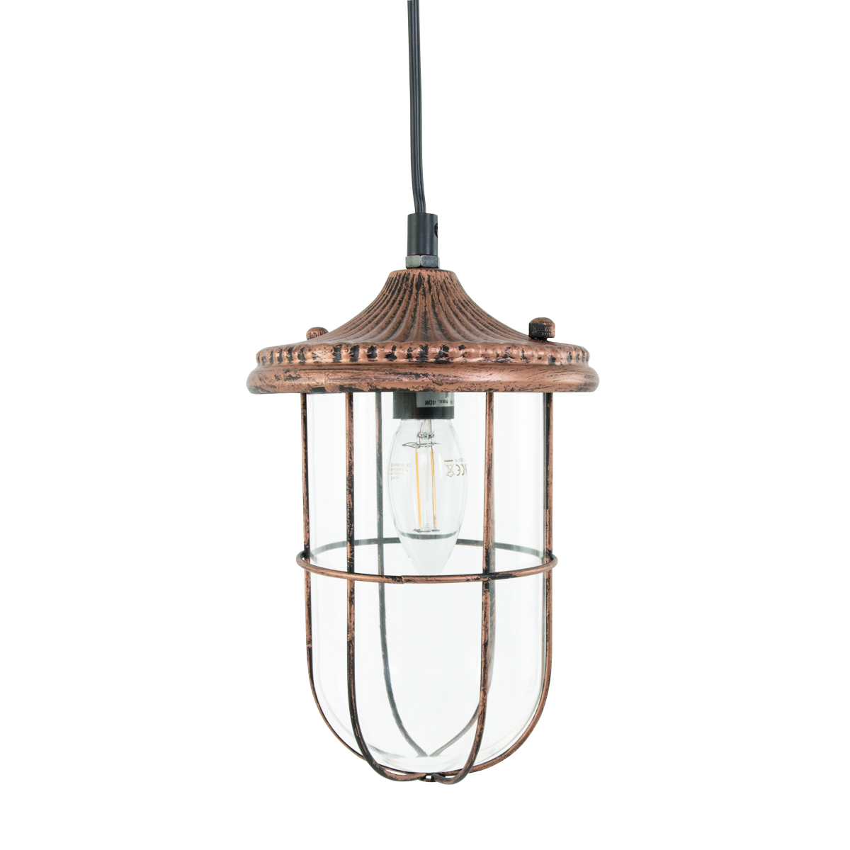 suspension industrielle cuivre ron 14 5 cm lampe industrielle. Black Bedroom Furniture Sets. Home Design Ideas