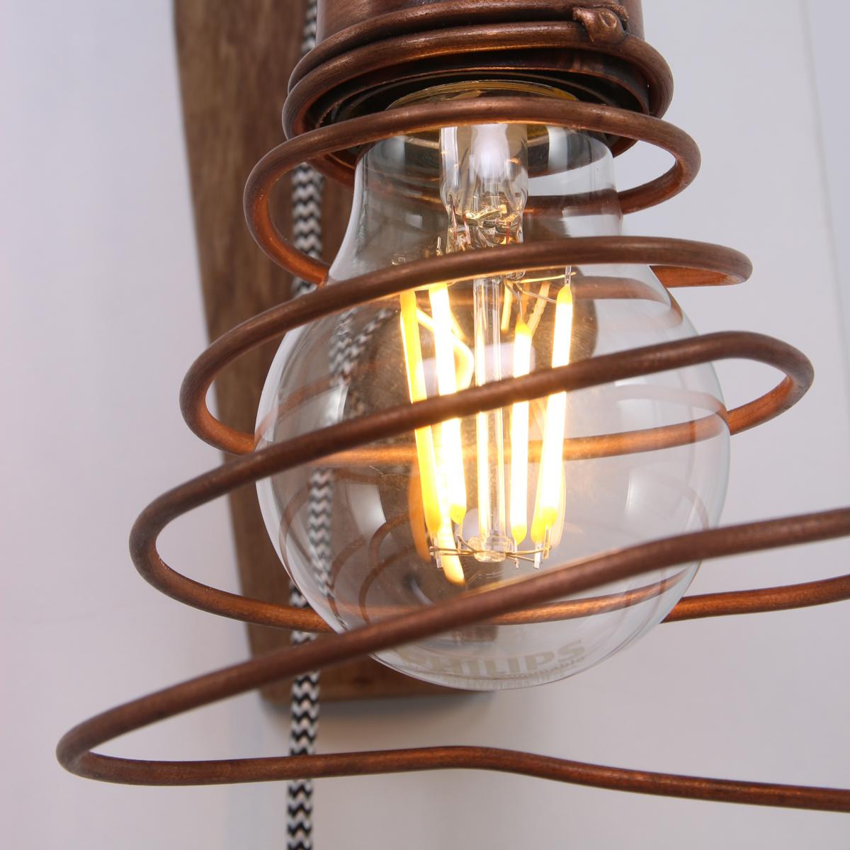 applique murale cuivre robin ø12 cm - lampe industrielle