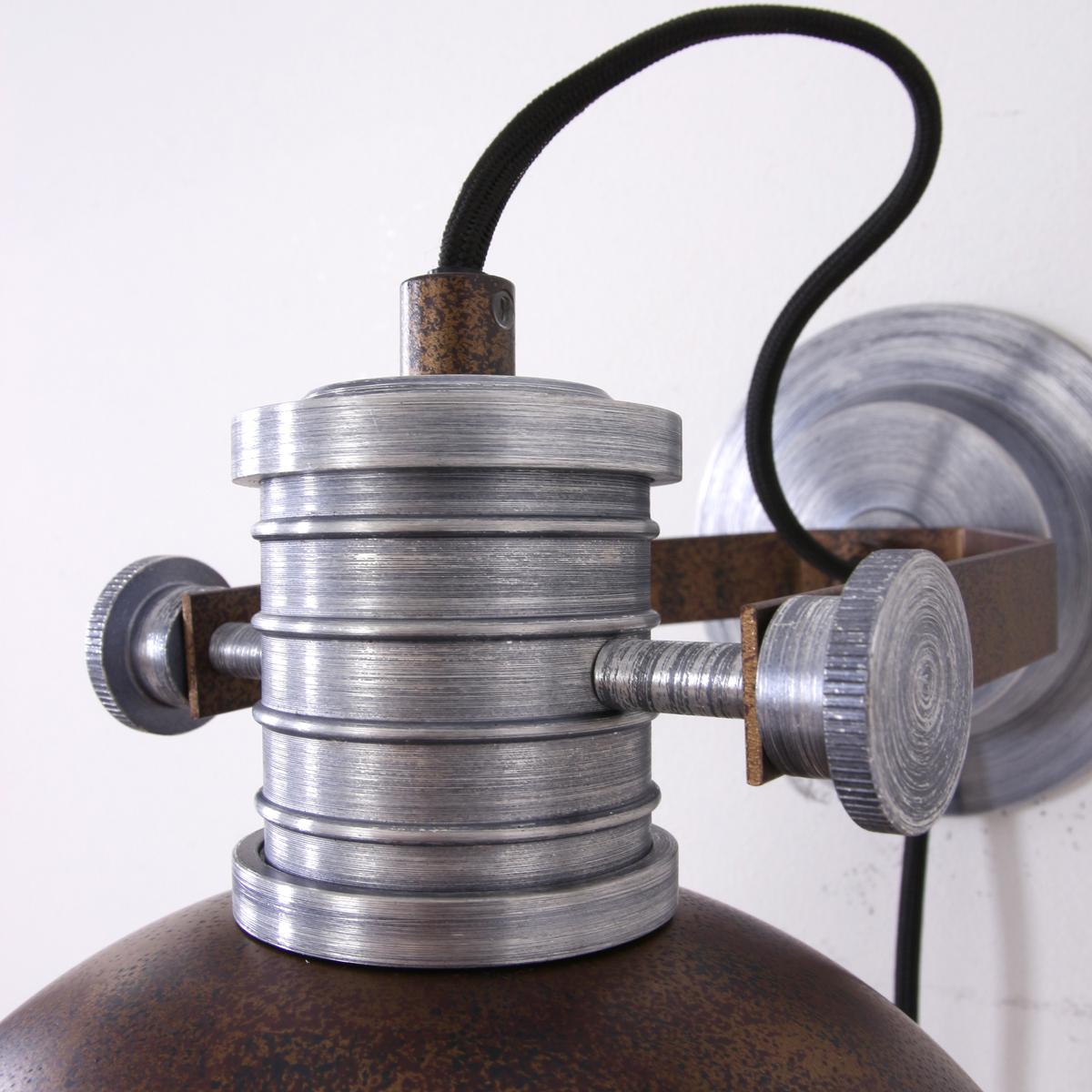 Applique murale industrielle marron finn lampe industrielle - Lampe murale industrielle ...
