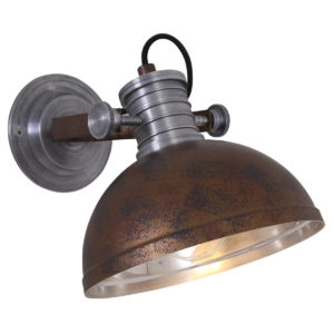 Applique Murale Industrielle Marron Finn Lampe Industrielle