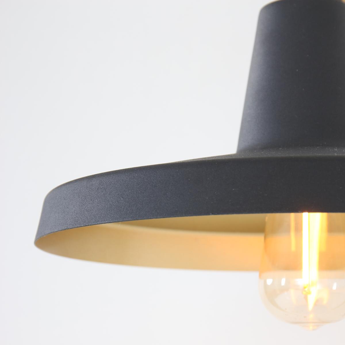 applique murale industrielle noir ivy 43 cm lampe. Black Bedroom Furniture Sets. Home Design Ideas