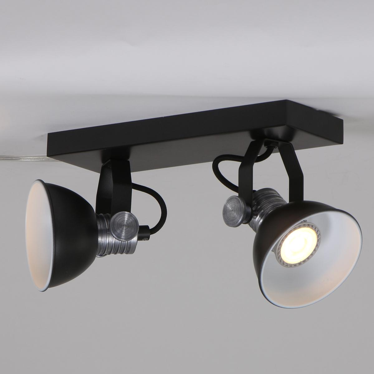 applique murale noir tokio ø11 cm - lampe industrielle
