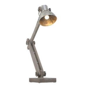 Lampe de table industrielle argent