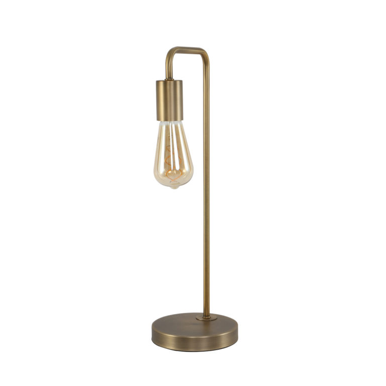 Lampe de table industrielle bronze