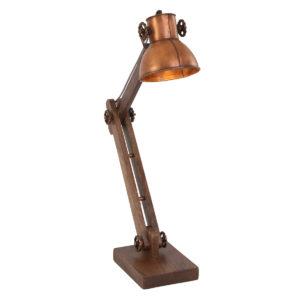 Lampe de table industrielle cuivre