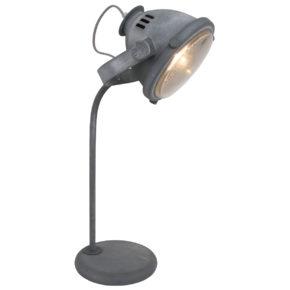 Lampe de table industrielle gris