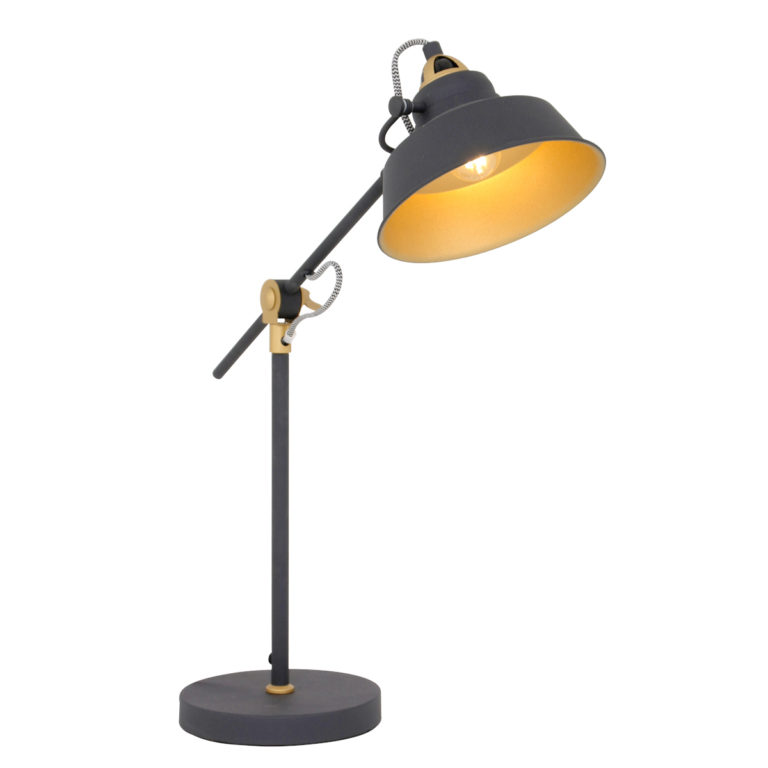 Lampe de table industrielle noir