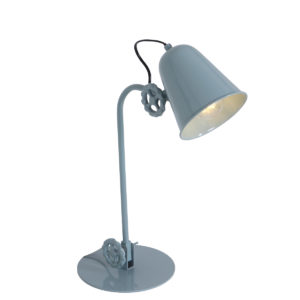 Lampe de table industrielle vert
