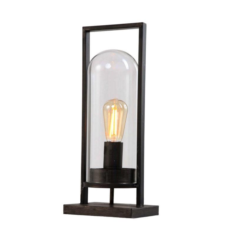 Lampe de table style vintage noir