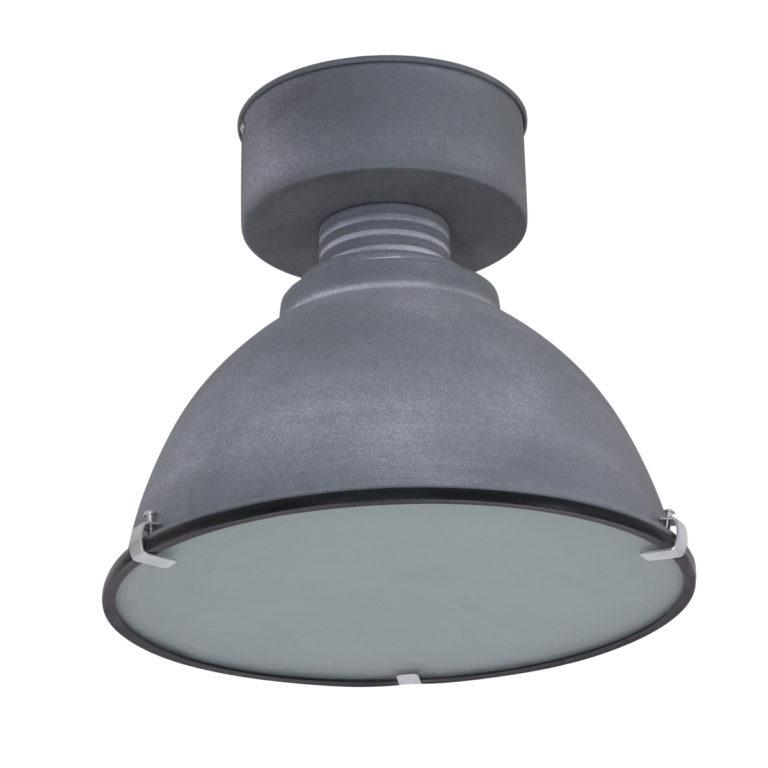 Plaffonier industrielle gris