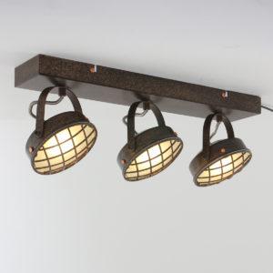 Plafonnier Industrielle Marron Nikki Lampe Industrielle