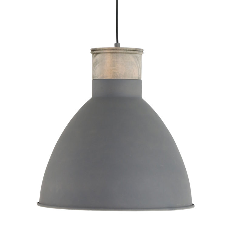 Suspension bois gris