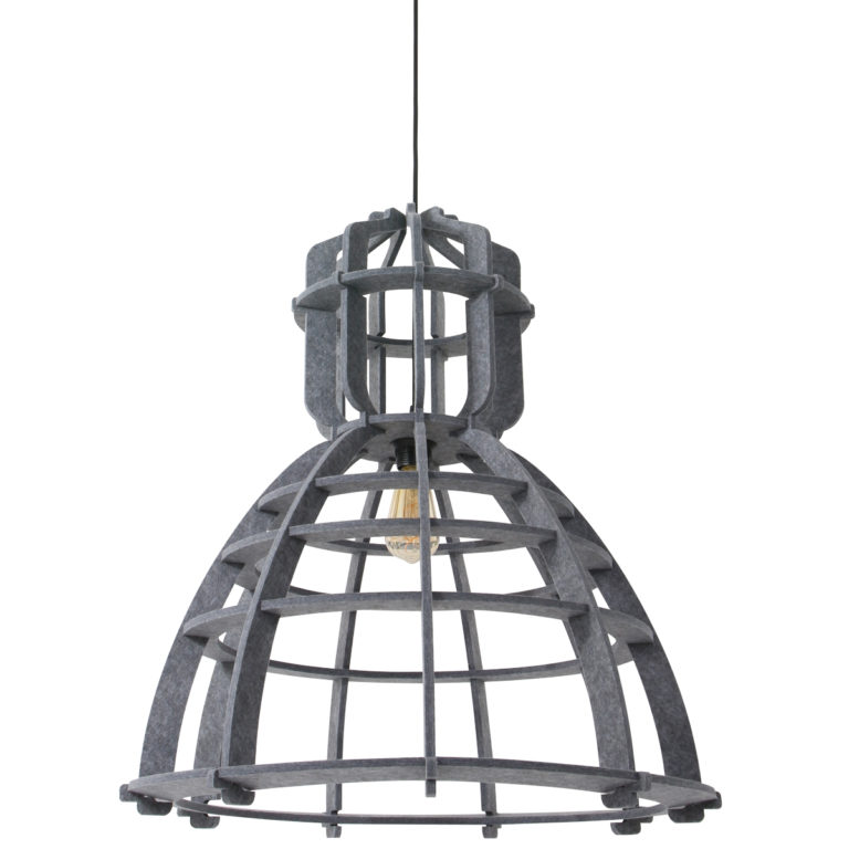 Suspension industrielle gris