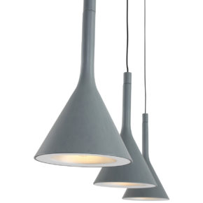 Suspension moderne gris