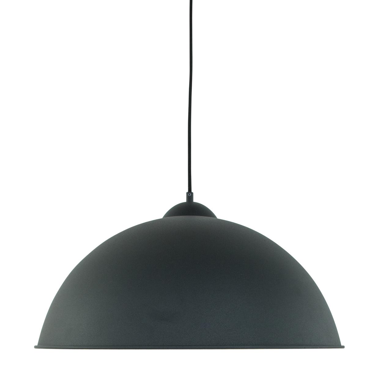 suspension moderne noir oscar 50 cm lampe industrielle. Black Bedroom Furniture Sets. Home Design Ideas